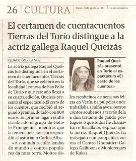 """Galardón en el """"VI Certamen de Cuenta Cuentos Tierras Del Torio"""""""