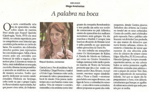 Artigo de Diego Ameixeiras na Voz de Galicia