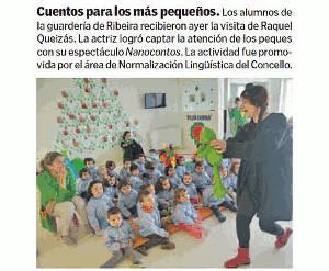 Naocontos na Escola Infantil Municipal de Riveria