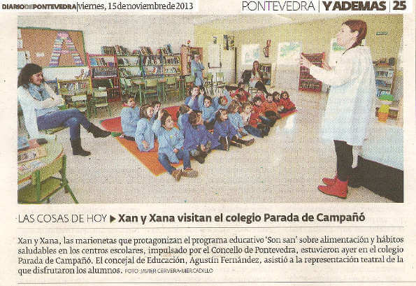 Son San no Diario de Pontevedra