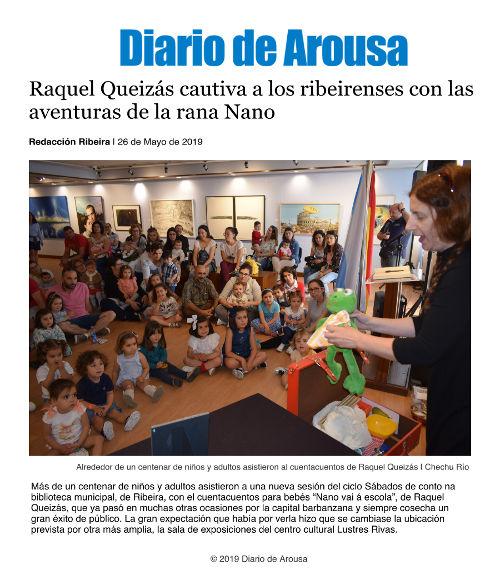 Nano va a la escuela en Ribeira