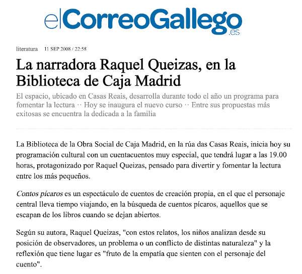 Contos na Biblioteca Caja Madrid