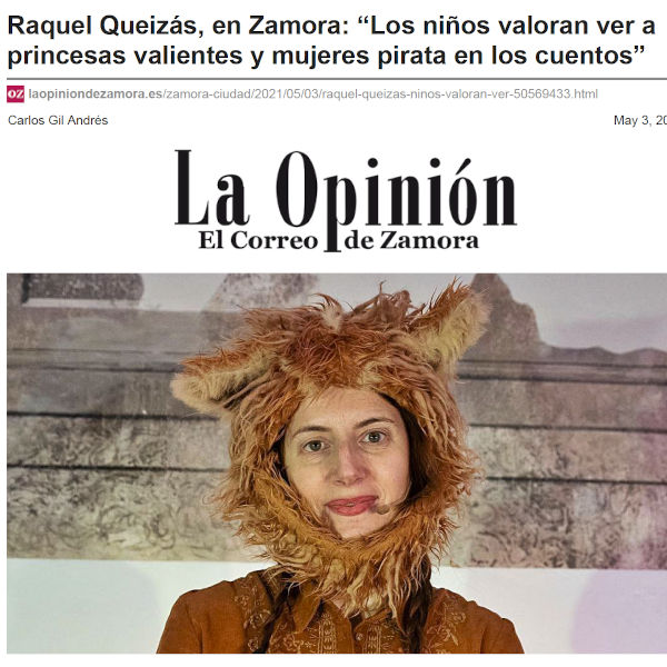 Entrevista no diario La Opinión de Zamora