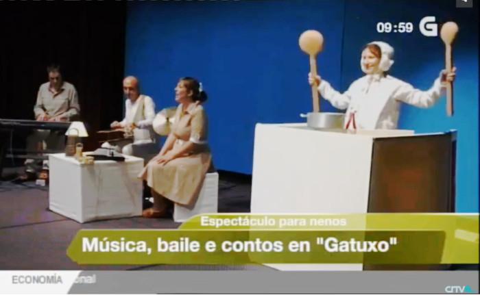Gatuxo en el telediario mediodia de la Televisión de Galicia