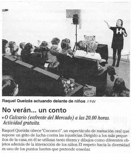 Cocorocó no programa No Verán… un conto do Concello de Vigo