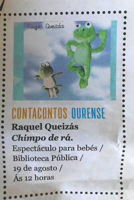 Chimpo de ra en Ourense