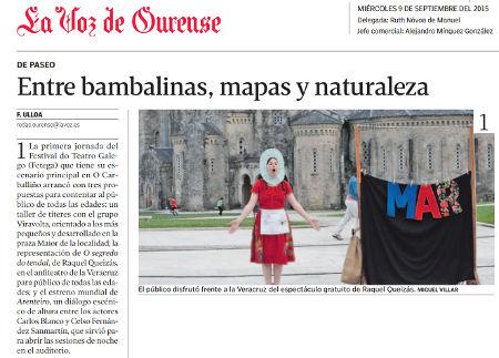 O segredo do tendal no Festival de Teatro Galego de O Carballiño