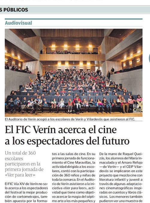 «Cine Maravillas, ver para leer» en el FICVíaXIV