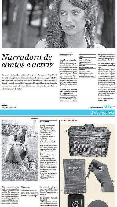 Entrevista no xornal La Región