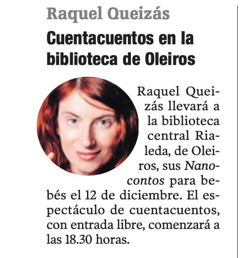 Nanocontos na Biblioteca Central Rialeda (Oleiros)