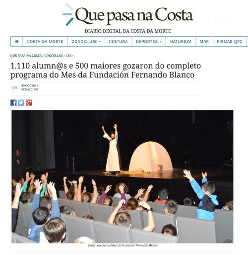 O eco das pedras no mes da Fundación Fernando Blanco de Lema de Cee