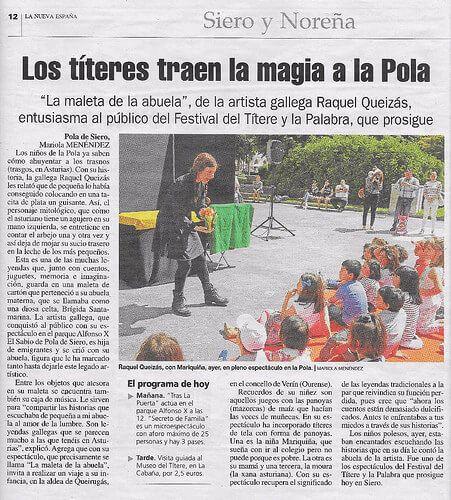 La Maleta de la Abuela en el periódico La Nueva España