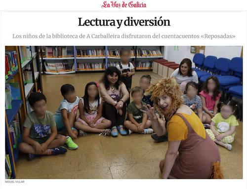 Raposadas en la Biblioteca de la Carballeira en Ourense