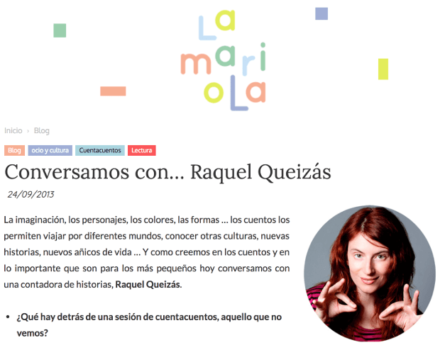 Entrevista en La Mariola