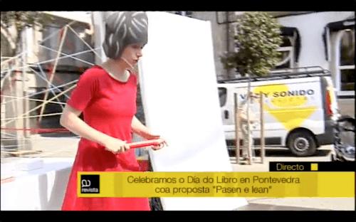 Cocorocó para celebrar o Día do Libro en Pontevedra